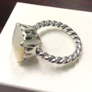 Pandora Jewelry - Pandora Mother of Pearl, White Sincerity Ring
